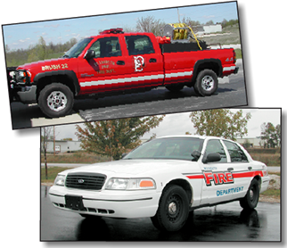 Plymouth, WI Fire Department emergency vehicles